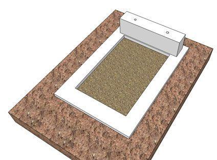 Основание надгробной плиты для установки