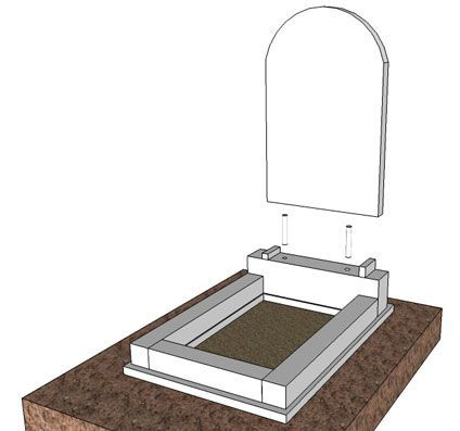 Установка надгробной плиты