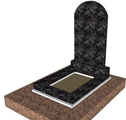 Окончательная установка памятника на могиле